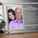 To My Dad Personalized Engraved Frame